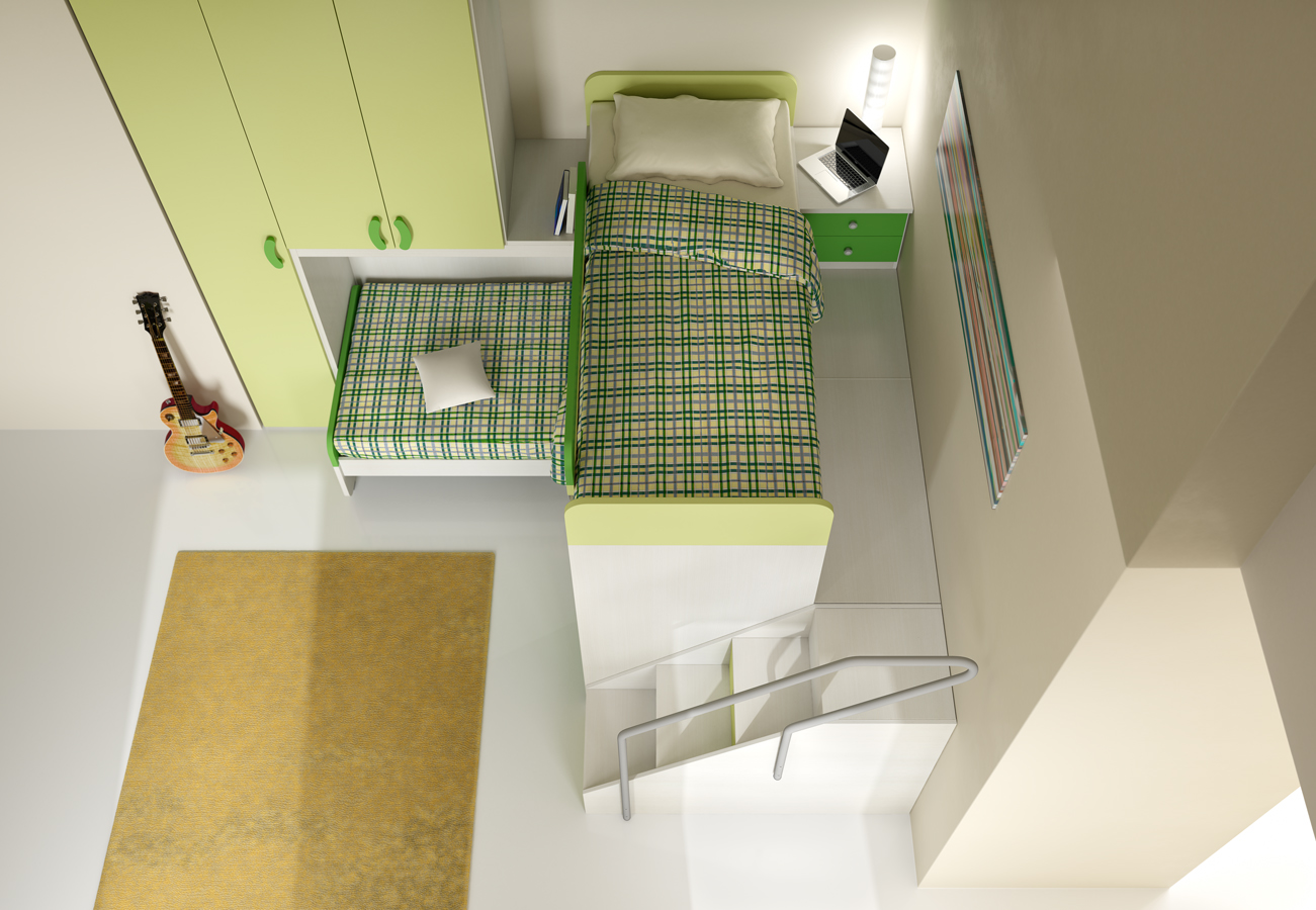 render 3d rendering camere camerette arredamenti interni fotografico ...