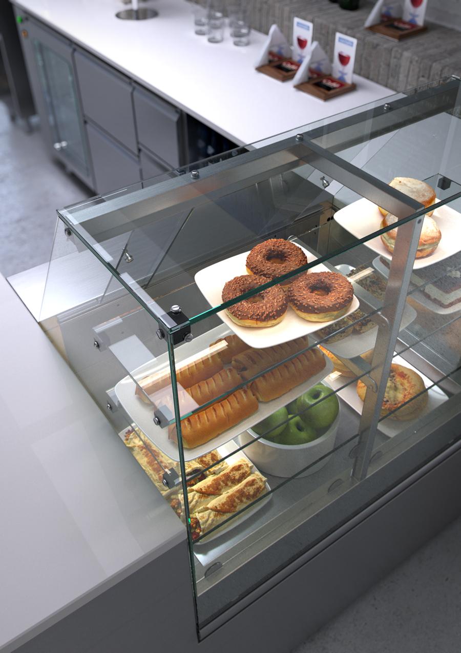 Rendering 3d cucine acciaio inox render piani self service - Cucine d acciaio ...