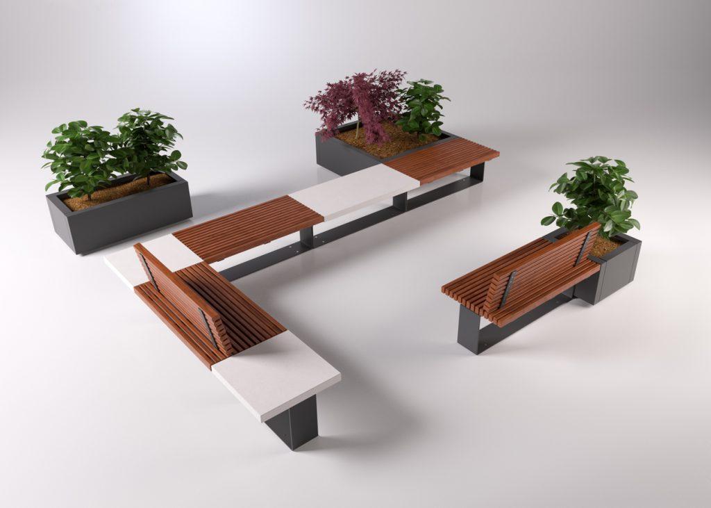 Rendering 3d render arredo urbano architettura edilizia for Un arredo urbano